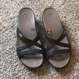 Crocs Wedged Sandals NWOT